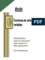 Funciones Varias Variables PPT