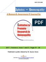 Research Updates Homeopathy Volume 6 Issue 1 and 2, 2017