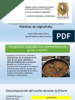 Compuestos Originados Por Calentamiento y Oxidación de Grasas