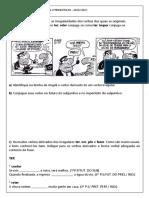 Avaliação de Língua Portuguesa 2ºtrimestre