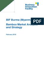 Bif Burma Market Analysis Strategy Bamboo