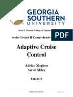 adaptive cruise control report