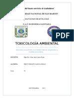 informe toxicología ambiental
