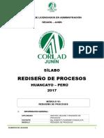 MODELO de SÍLABO Rediseño de Procesos