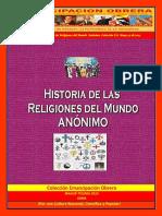 Libro No. 1744. Historia de Las Religiones Del Mundo. Anónimo. Colección E.O. Mayo 23 de 2015
