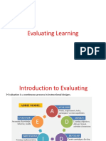 Evaluating Learning