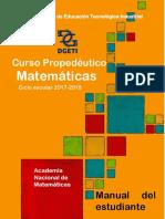 Curso Propedéutico Matemáticas 2017 Estudiante