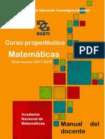 Curso Propedéutico Matemáticas 2017 Docente