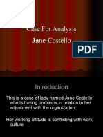 Case Analysis{Jane Costello}