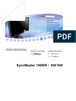 User Manual Samsung LCD Monitor  740NW