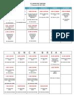 Ict Laboratory Timetable