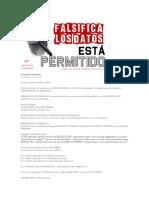 Falsificacio de Datos Permitidos