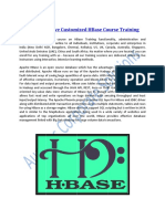 Level 3 and Above Customized HBase Course Training
