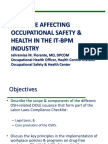 Issuance Affecting OSH in the IT-BPMs