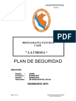 OKKK Plan de Seguridad Restaurant Recepcion Cafe La Choza