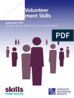 Valuing Volunteer Management Skills