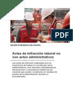 Actas de infracción laboral no son actos administrativos.doc