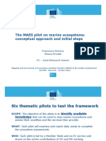 The MAES Pilot on Marine Ecosystems
