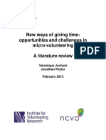New ways of giving time