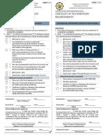 BIR Application Requirements