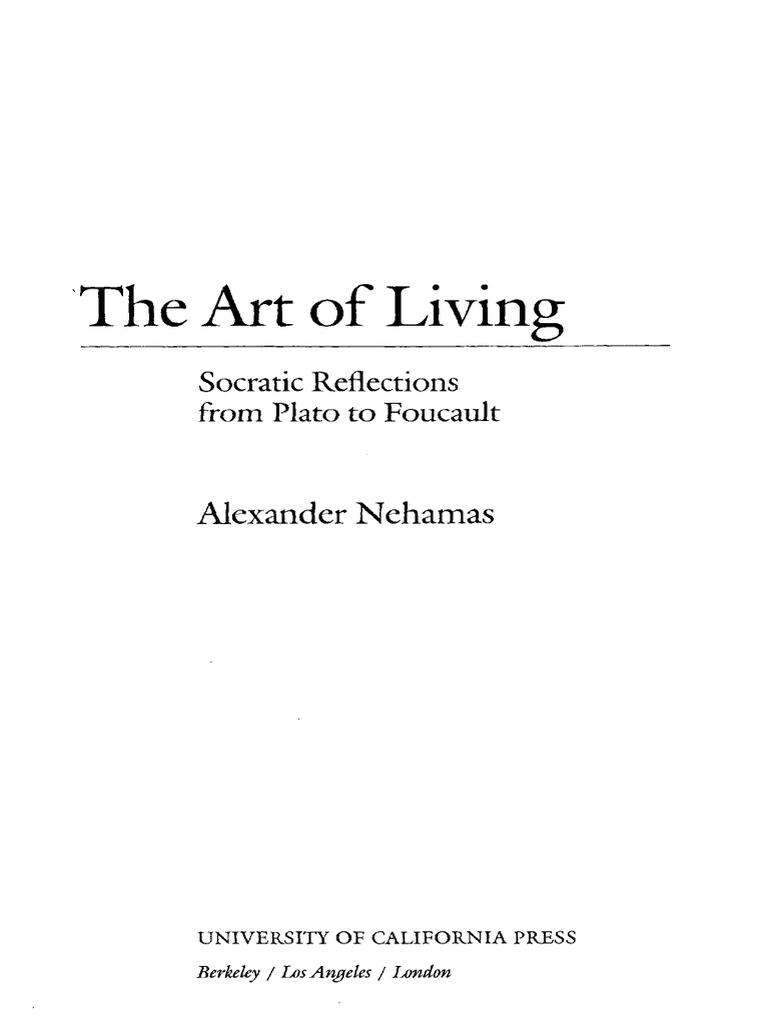 0d3f3fcd9bd En Nehamas -The Art of Living (University California Press 1998 ...