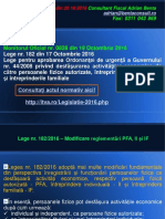 AL 109 Modificare Reglementari PFA, II Si If