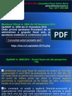 AL 116 Procedura Constituire Grup Fiscal Unic