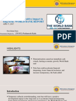 World Bank Report on impact of demonstration