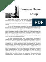 Hermann Hesse Knulp