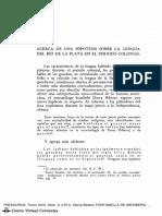 Lenguaje en El Rio de La Plata