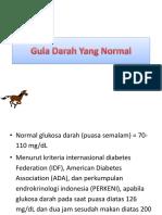 Gula Darah Yang Normal