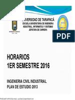 Horarios ICI 1er Semestre 2016