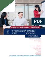Informator 2017 - Studia Podyplomowe - Wyższa Szkoła Bankowa w Toruniu i Bydgoszczy
