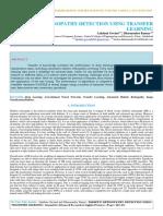 Iaetsd-jaras-diabetic Retinopathy Detection Using Transfer