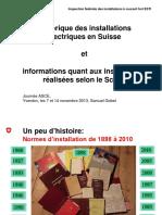 Historique Distribution Electrique Basse Tension