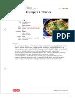 Salata Od Krumpira i Rotkvice