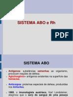 Sistema ABO e Rh
