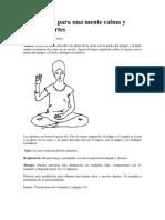 Meditacion Mente Calma Nervios Fuertes