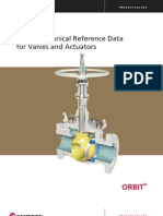 Orbit Tech Data Valves Actuators