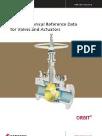 Orbit Tech Data Valves Actuators
