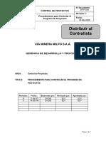 DP-P-834 Control de Progreso de Proyectos Rev 0