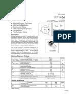 irf1404 HEXFET(R) Power MOSFET Datasheet