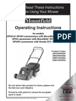 HP45H Lawnmover Manual