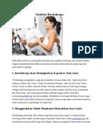 10 Fakta Tentang Manfaat Berolahraga