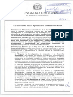 Anteproyecto de Ley General del Sector Agropecuario y Desarrollo Rural
