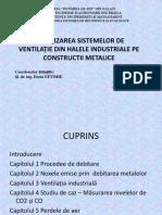 Optimizarea Sistemelor de Ventilație Din Halele Industriale Pe
