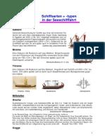 Schiffsarten - Seeschifffahrt