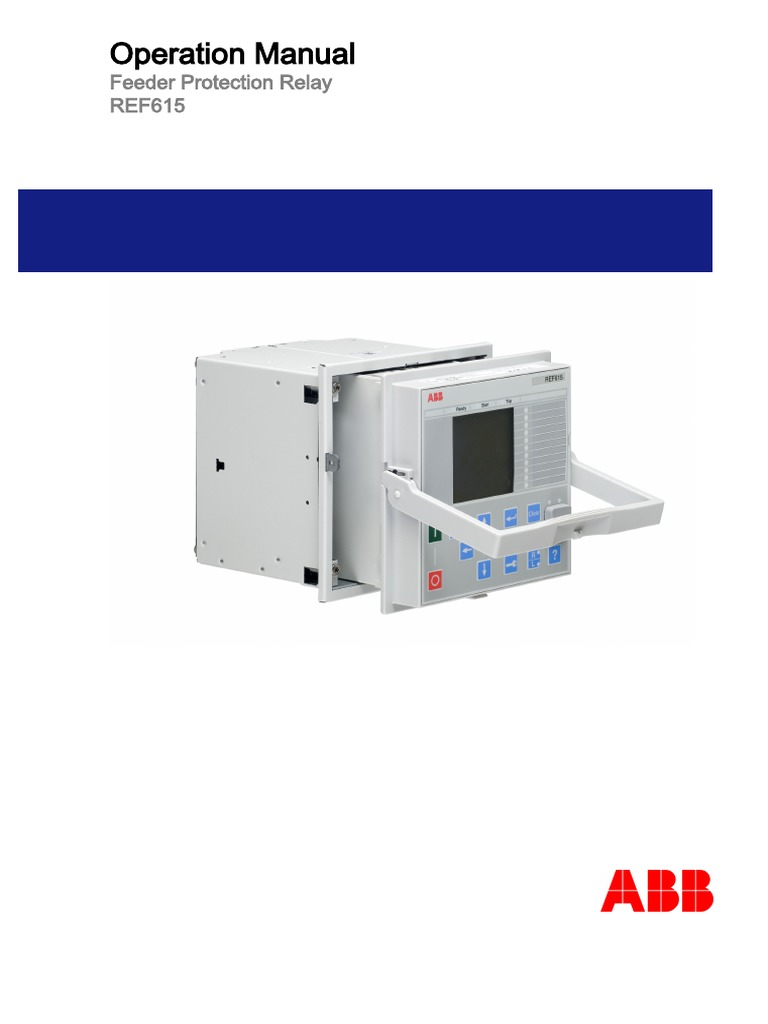 Ref615 Oper 756376 Enc Pdf Parameter Computer Programming Abb Current Balance Relay Electromagnetic Compatibility