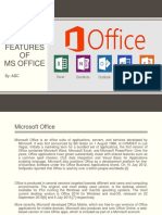 Features of MS Office By Rawal Kishore