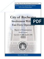 Rochester-Fast Ferry Operation Audit from the Office of the New York State Comptroller